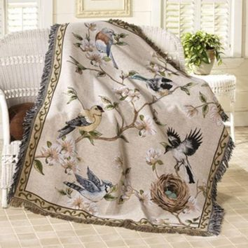 Tapestry Wall Hanging Window Curtain 100% Cotton High Quality Sofa Table Cloth Fwoolen Blanket Casualdust Cover150*125cm