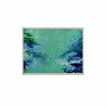 "Ebi Emporium ""Winter Dreamland 6"" Green Blue KESS Naturals Canvas (Frame not Included)"