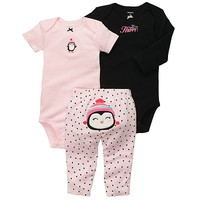 Carter's Penguin Turn Me Around Bodysuit Set - Baby