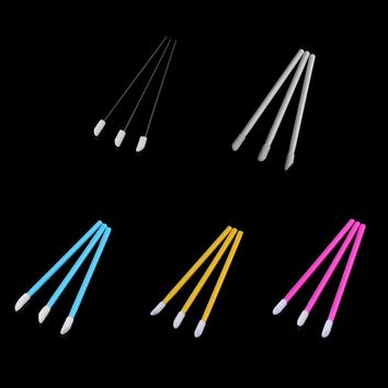 50 Pcs Professional Disposable Lip Brushes Flocked Head Lipstick Gloss Wands Applicator Make Up Must-Have Cosmetic Tools