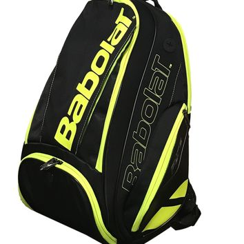 Babolat Pure Black/Fluo Yellow Racquet Holder Tennis Backpack