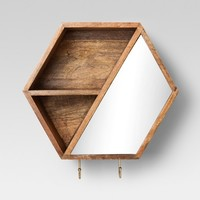 Hexagon Wall Cubbie with Hooks 12 X 10.4 - Project 62™