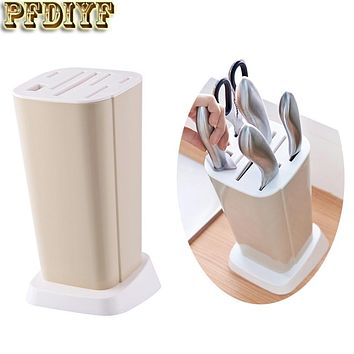 Hot Sale Knife Block Multifunction Knife Shelving Rack Home Storage Tool PP Plastic Kitchen Knives Holder Kitchen Supplies