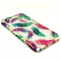 Feather Twinkle Silicagel Case Cover for iPhone & Samsung Galaxy