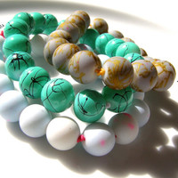 zen intention bracelets - calm abundance meditate
