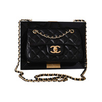 LIMITED EDITION RUNWAY CHANEL FRAME BAG PLEXIGLASS U MUST c