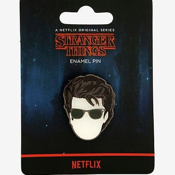 Stranger Things Steve Glasses Enamel Pin