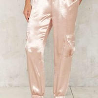 Walk the Shine Satin Jogger Pants