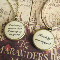 Marauders Spells Double-sided Pendant Necklace