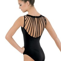 Delicate Strappy-Back Leotard