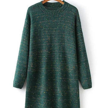 ( 4 Colors ) Jess Crewneck Shift Knit Dress