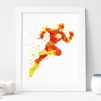 The Flash – DC Comics – Watercolor Art Print