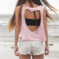 Pink Heart Cut-out Tank