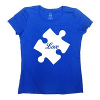 Autism Awareness Shirt Autism Clothing Autistic T Shirt Spectrum Speaks Support TShirt Advocate Day Love Puzzle Piece Mens Ladies Tee SA766