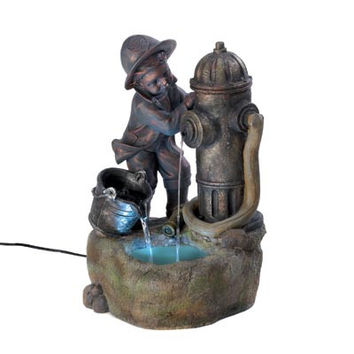 Littlest Fireman Fountain