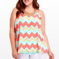 Plus Size Santa Barbara Chevron Top | Fashion To Figure