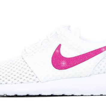 Nike Roshe One + Vinyl Swoosh - White/White - 8 Options