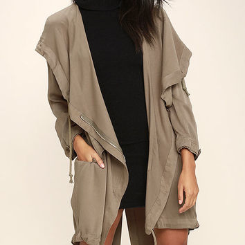 Through the Rain Taupe Jacket