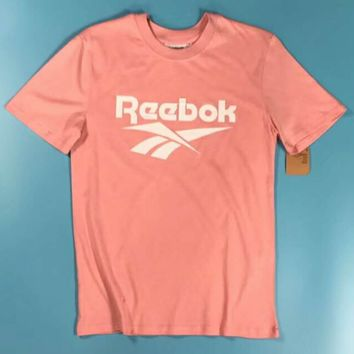 Reebok Male and female couple short-sleeved T-shirt F-XMCP-YC Pink