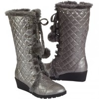 Quilted Metallic Wedge Boots | Boots | Shoes | Shop Justice