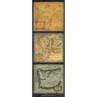 Lord Of The Rings - Maps Door Poster 21 x 62in