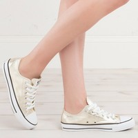 CONVERSE WOMENS METALLIC ALL STAR LOW