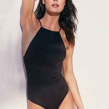Out From Under High Neck Solid One-Piece Swimsuit