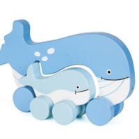 Mommy & Baby Rolling Toy | Whale
