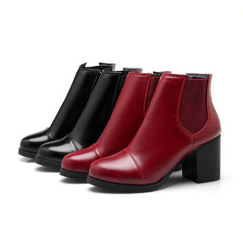 Fashion Ankle Boots High Heels Women Shoes Fall|Winter 8546