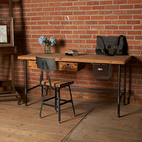 Industrial Modern Desk. reclaimed wood with steel legs in your choice of style and size.
