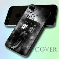Dr Who Police Box Bad Wolf by GreatCover Print Design for iPhone 4/4s iPhone 5 Samsung S3 i9300 Samsung S4 i9500