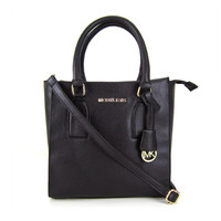 Michael Kors Selby Pebbled Leather Large Black Satchels Sale With 60% Off!
