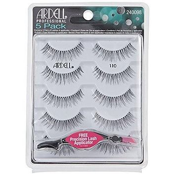 Ardell - Strip Lashes Multipacks - 5 Pack Natural 110 Black