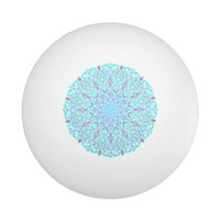 Boho-romantic colored mandala ornament arabesque Ping-Pong ball