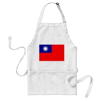 Apron with Flag of Taiwan