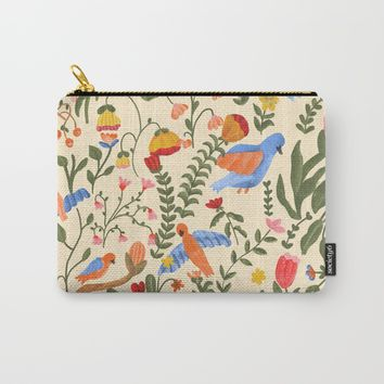 Tropical Garden Pattern Carry-All Pouch by chotnelle