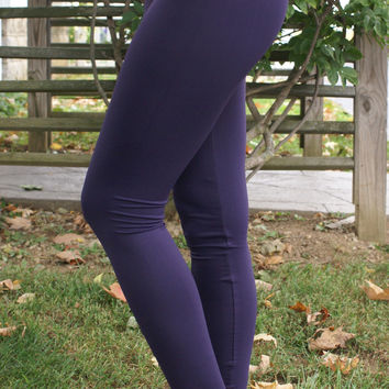 Oh So Soft Leggings: Dark Purple