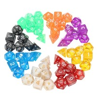 Board Game 56pcs Polyhedral Dice 8 Sets For Dungeons And Dragons DND RPG MTG Board Games