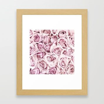 Blush Roses Framed Art Print by allisone