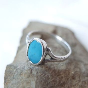 XXL Tribal Ring, Persian Turquoise, Ispahan Blue, Sterling Silver, Ethnic Rajasthan, India Jewelry, Blue Turquoise, Gyspy Jewelry, Authentic