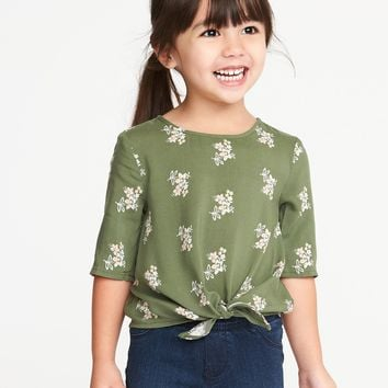 Printed Tie-Front Top for Toddler Girls |old-navy