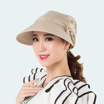 Sunshede Large Peak Newsboy Caps Lady Outdoors Casual Fisherman Hat Women Fashionable Bow Sun Hats