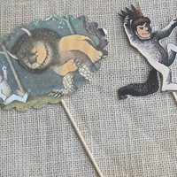 Cake Topper - Where the Wild Things Are,Wild Things Centerpiece,Photo Prop,Party Table Number,Centerpiece for Flowers, Party Supplies