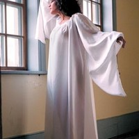 Silk Bell-Sleeve Chemise: Renaissance Costumes, Medieval Clothing, Madrigal Costumes by The Tudor Shoppe