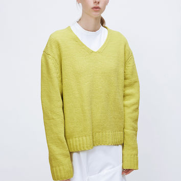 Totokaelo - VIDEN Lime Brooks Sweater - $350.00
