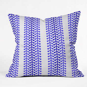 Holli Zollinger Indigo Vine Outdoor Throw Pillow