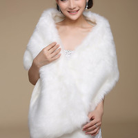 Elegant Spuare Shawls,White Soft Faux Fur Wedding Party Shawls,Spuare Party Evening Wraps,Soft Casual Capelets,White Winter Shawls