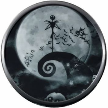 Smokey Grey Jack On Spiral Hill Halloween Town Nightmare Before Christmas Jack Skellington 18MM - 20MM Charm for Snap Jewelry New Item
