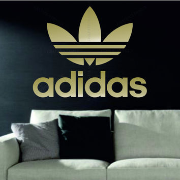 ADIDAS OLD Trefoil Decorative Vinyl Wall Sticker Decal