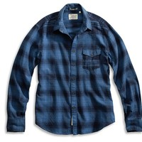 Lucky Brand Tombstone Western Shirt Mens - Blue Plaid
